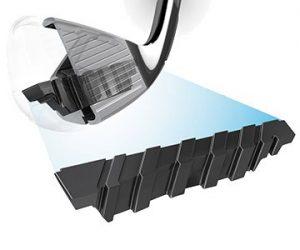 ECHO Damping System, ECHO vibrationsdämpning systemet expanderar över hela träffytan från häl till tå, vilket ger dig en smidd känsla på ett distansjärn.